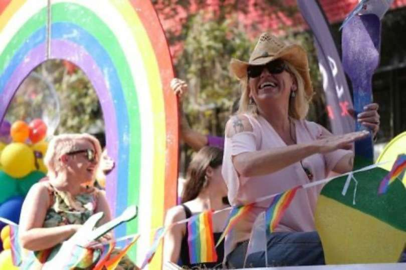 beccy cole tamworth country music festival pride float