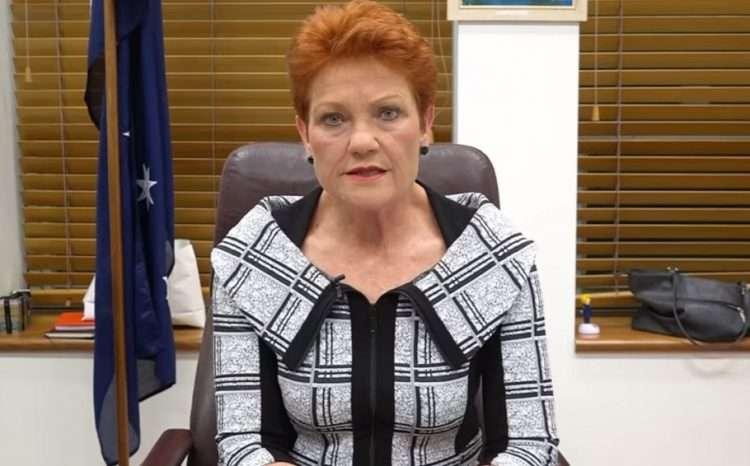 pauline hanson one nation leader senator senate