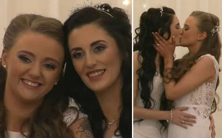 northern ireland lesbian couple wedding
