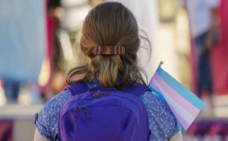 transgender student high school transgender flag stock photo