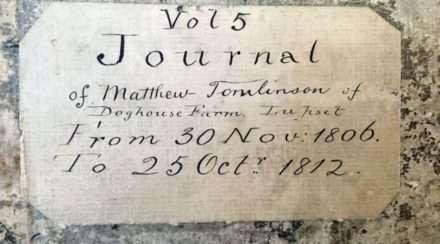 200-year-old diary matthew tomlinson