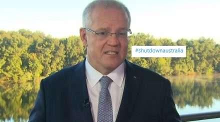 scott morrison #shutdownaustralia