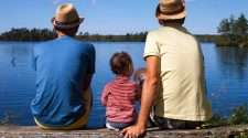 gay dads stock photo same-sex parents rainbow familiescovid-19 coronavirus surrogacy