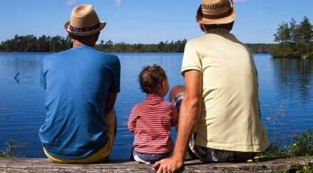 gay dads stock photo same-sex parents rainbow familiescovid-19 coronavirus surrogacy
