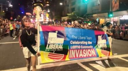 dept of homo affairs protestors mardi gras