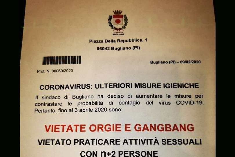 coronavirus italian gangbang ban