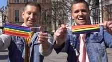 poland gay couple rainbow masks coronavirus