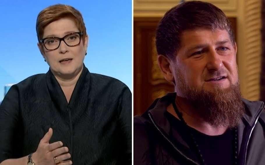 foreign minister marise payne chechnya leader ramzan kadyrov composite
