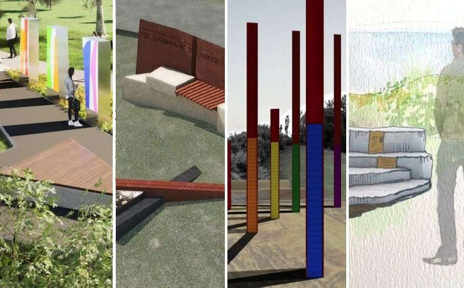 acon waverley council designs gay hate crime memorial bondi marks park tamarama