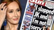 JK Rowling The Sun domestic violence trans support