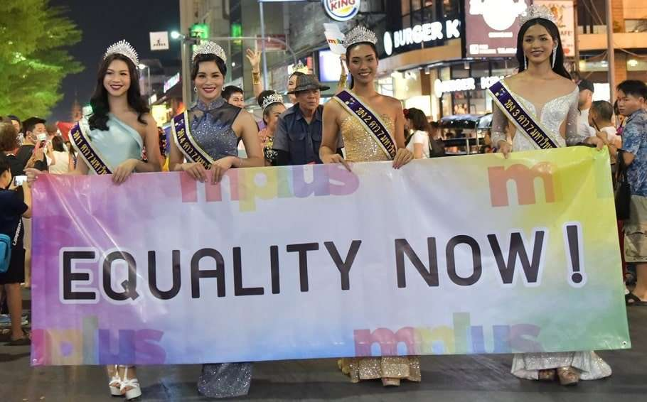 thailand same-sex civil unions chiang mai pride parade equality gay marriage