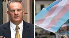 mark latham transgender pride flag