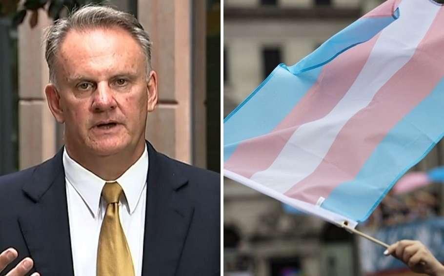 mark latham transgender pride flag