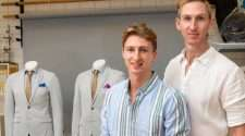queensland museum gay couple same-sex wedding suits craig burns luke sullivan