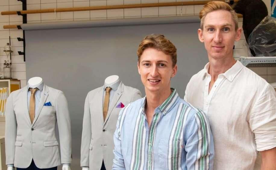 queensland museum gay couple same-sex wedding suits craig burns luke sullivan