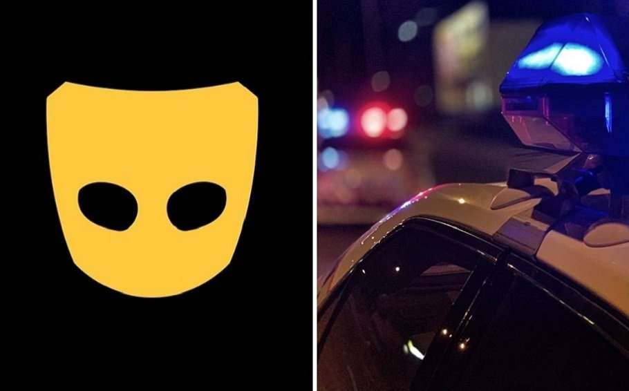 grindr crime date rape brisbane police car composite