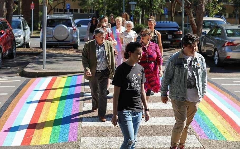 university of newcastle rainbow crossing rainbow flag pride week