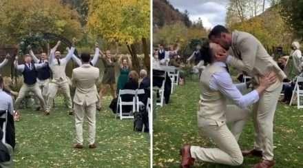 gay wedding flash mob stupid love lady gaga