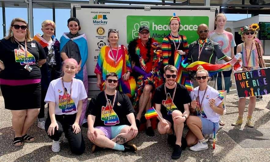 mackay rainbow pride march 2020 headspace queensland pride festival