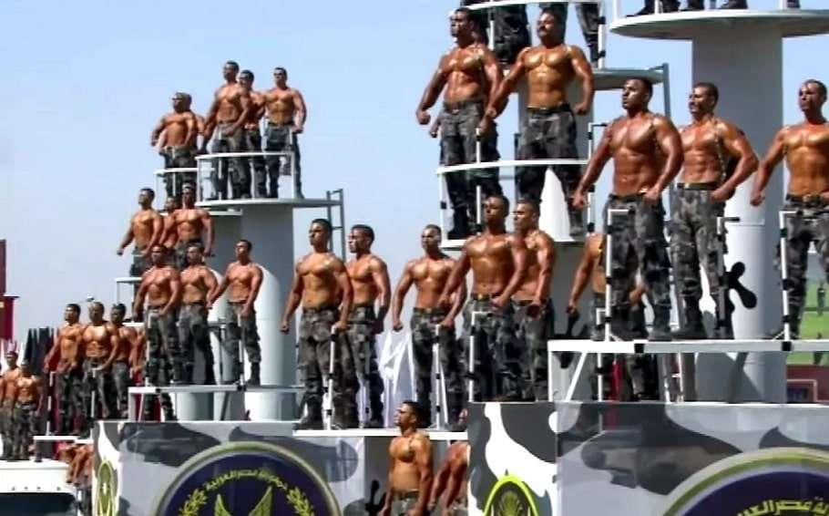 egypt police shirtless graduation ceremony