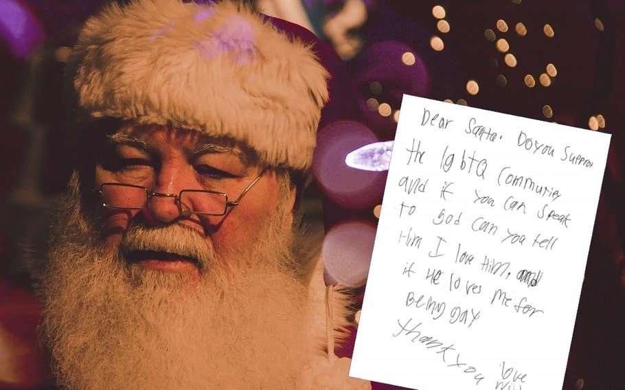 santa claus letter santa gay united states postal service