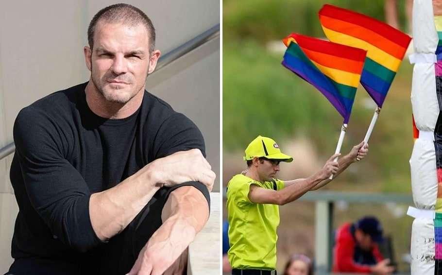ian roberts pride game rainbow flags homophobia study monash university afl nrl dan palmer