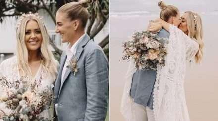 ali brigginshaw kate daly wedding same-sex marriage lesbian girlfriend nrlw brisbane broncos