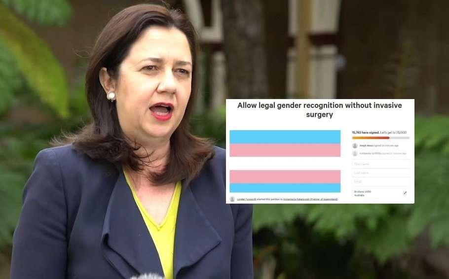 queensland transgender birth certificate laws anastacia palaszczuk