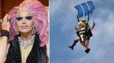 gold coast pride festival carmen taykett drag queen skydiving
