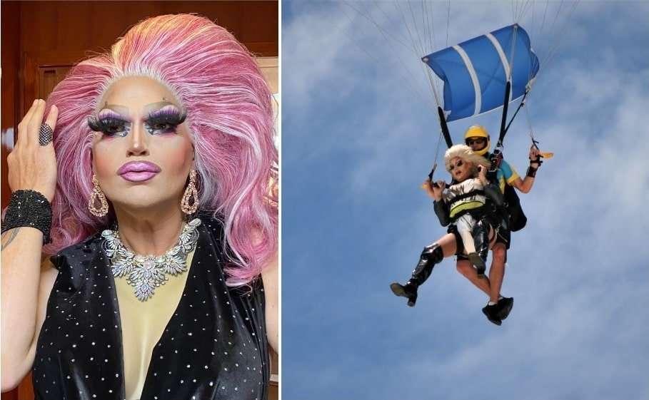 gold coast pride festival carmen taykett drag queen skydiving