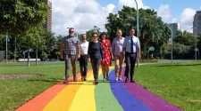 sydney rainbow footpath