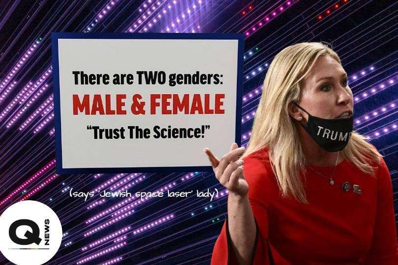 marjorie taylor greene far-right conspiracy theorist two genders