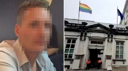 belgium prime minister david p gay man murder rainbow flag david p