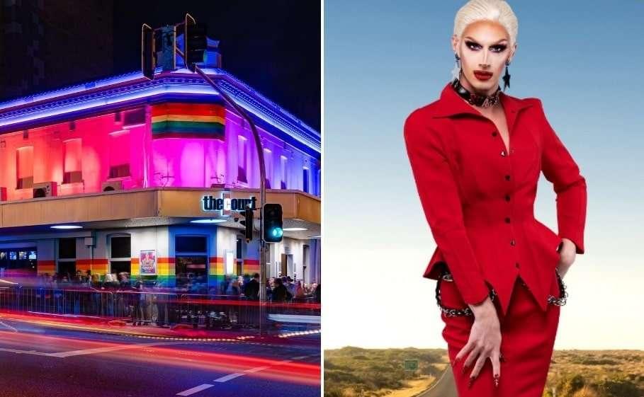 scarlet adams perth rupaul's drag race down under blackface the court hotel connections nightclub