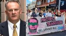 mark latham protest rally community action for rainbow rights transgender education bill