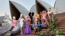 down under drag race premiere sydney opera house blue carpet