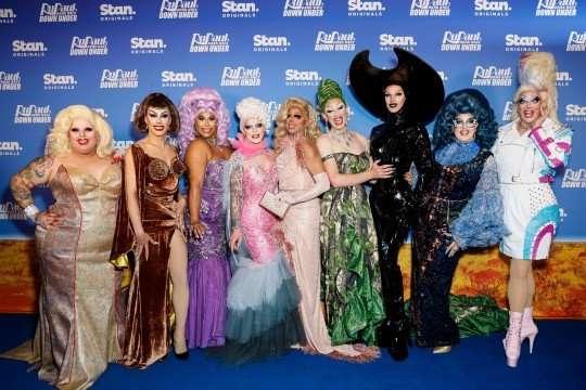 down under drag race premiere blue carpet sydney opera house