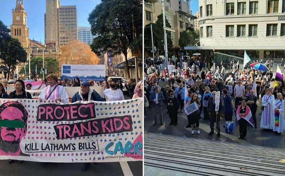 sydney carr community action for rainbow rights transgender rights mark latham rally