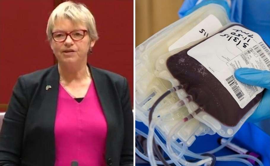 janet rice greens senator transgender blood donation therapeutic goods administration tga lifeblood