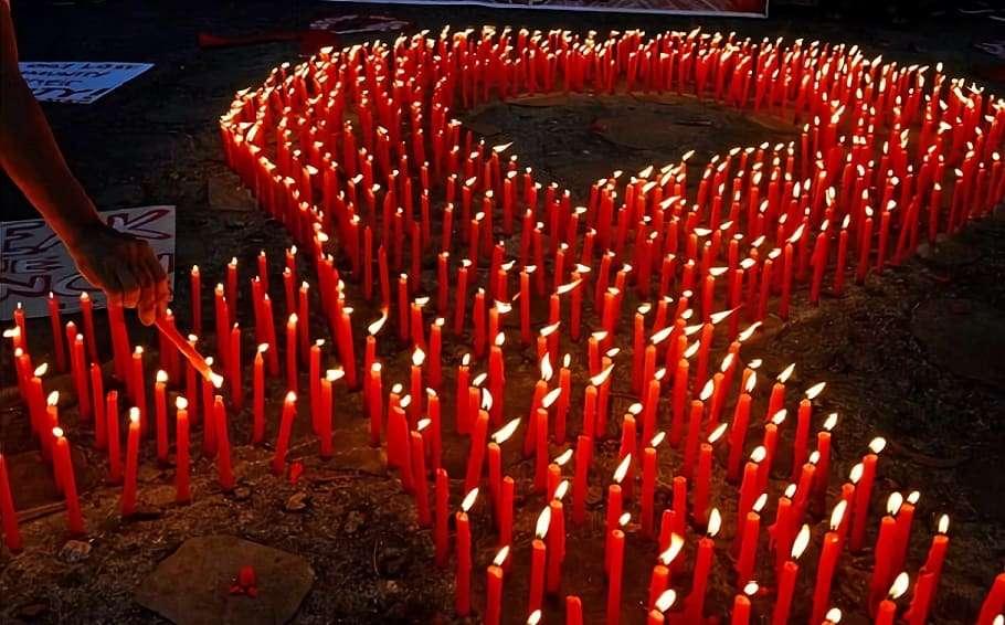 world aids day candlelight vigil hiv aids epidemic history
