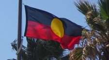 aboriginal flag first nations flag stock photo