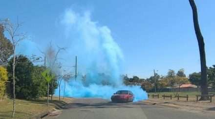 queensland police gender reveal burnout logan marsden