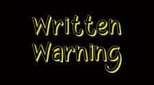 written warning